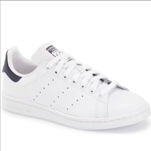 NIB Adidas Stan Smith White & Navy Sneakers